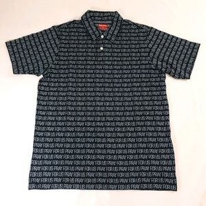 Supreme Pray For Us Jacquard Polo Black Medium